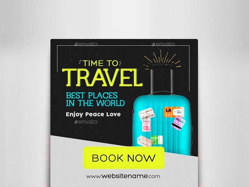 Travel Promotion Banners Plans Banners