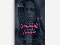 One Of the Rewards of Success is Freedom Flyer Templates