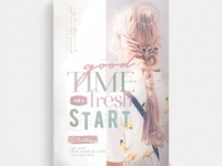 A Good Time For A Fresh Start Flyer Template