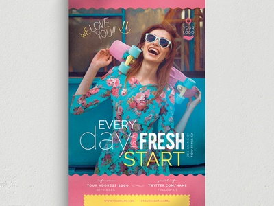 Every Day Is A Fresh Start Flyer Template