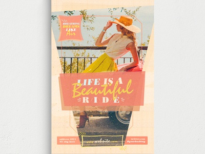 Life Is A Beautiful Ride Flyer Template