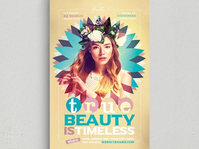 True Beauty Is Timeless Flyer Template