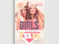 Girls Just Wanna Have Fun Flyer Template