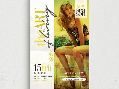The Art Of Living Flyer Template