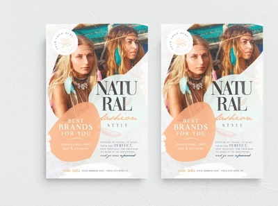 Natural Fashion Style Flyer Template