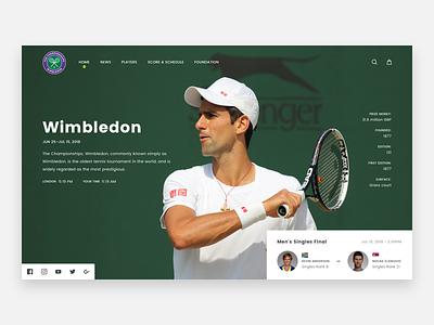 Wimbledon ux sport web design ui header hero final tennis wimbledon