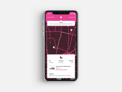 Delivery Tracker App ui app mobile app ios delivery tracking delivery tracker ups parcel package