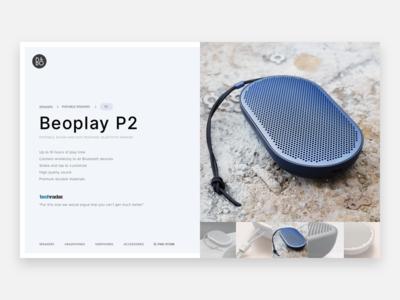 B&O P2 Bluetooth Speaker