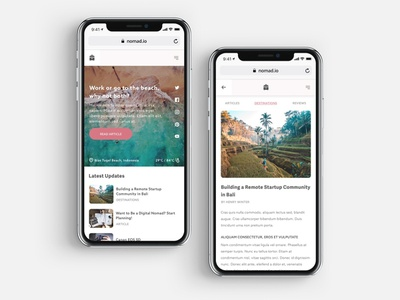Nomad Mobile vacation holiday reviews blog travelling nomad mobile mobile design ios web design ux ui
