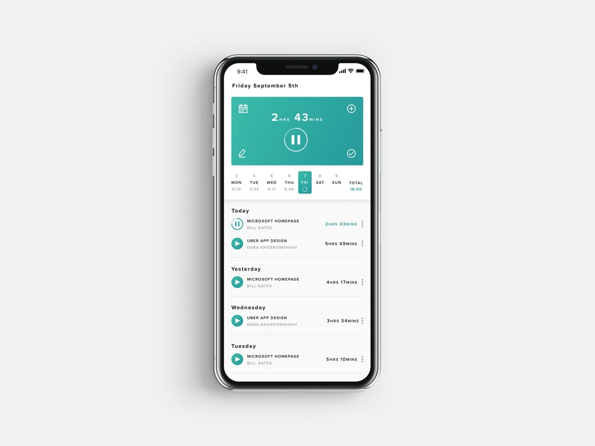 Time tracker app small