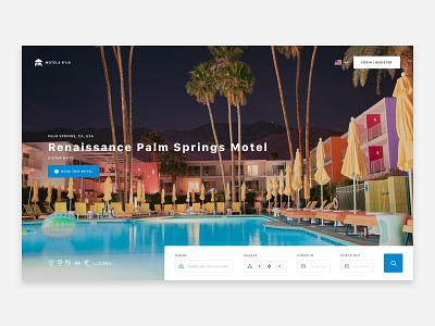 Motel Finder ux ui web design hero header motel hotel motel finder hotel finder motel booking hotel booking booking