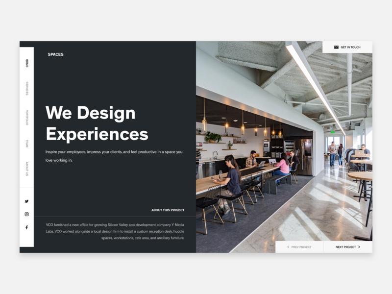 Office Design Agency architechture workspace agency office design agency office design office space header hero web design ux ui