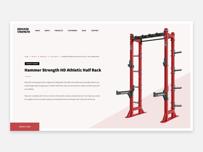 Hammer Strength by Marcus Handa on Dribbble