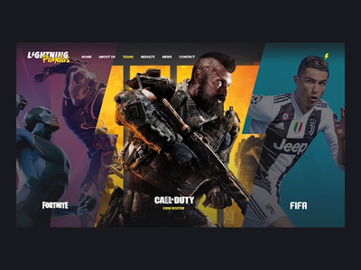 eSports Website Concept ui ux web design animation website after effects interactive esports sports logo gif
