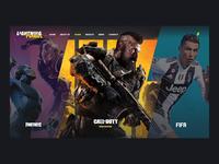 eSports Website Concept