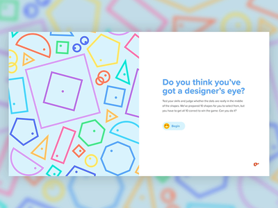 It's Centred That (Designer's Eye Game) score interactive gif after effects ux gsap emojis web design animation ui app game