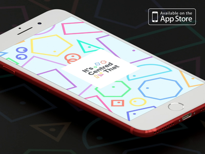 It's Centred That - Now Available on the App Store! interactive mobile app mobile app gsap after effects animation ux ui
