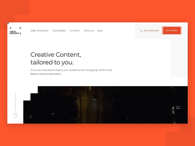 Ideal Insight Web Design branding animation web design gif after effects video production video ux ui
