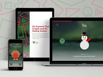 It's Centred That - Christmas Edition design app vector animated web design ui ux snowman rudolf santa illustration christmas festive