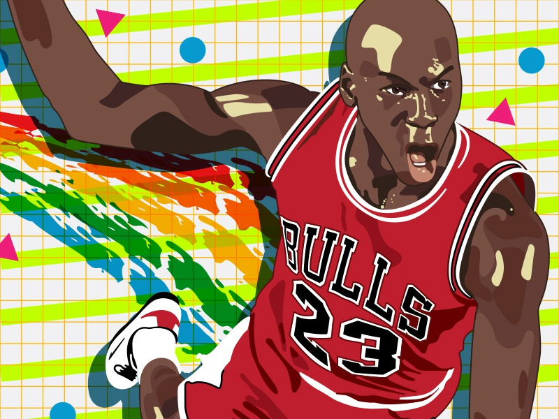 If I Could Be Like Mike by Carlos Vigil on Dribbble
