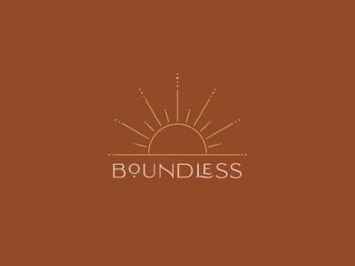 Boundless Logo Design bohemian logotype typeface logo mark brand identity sun logo design brand design color design color palette icon logo branding vector typography artwork design illustration