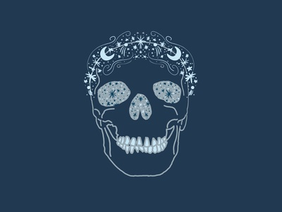 Chiron Astral Skull asteroid comet moon stars astral skull branding color palette color vector stationery design fine art artwork design illustration