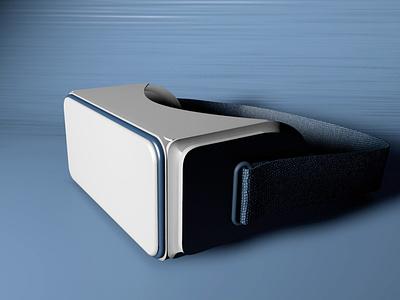 Custom VR Goggles illustration cinema4d modeling 3d