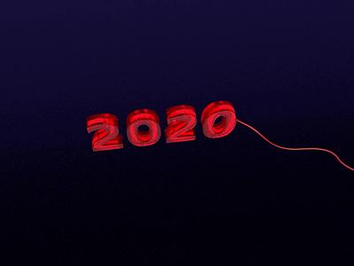 Bye 2020 3d text 3d art 3d modeling 3d animation cinema4d