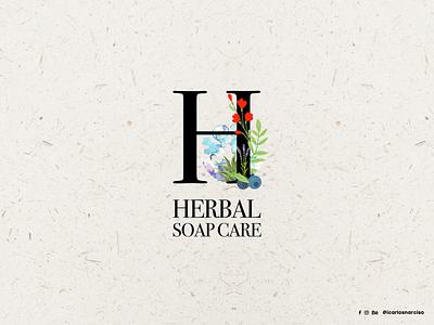 Logo Design | Herbal Soap Care icon vector design corporate branding graphic design designer logo design logotype branding logo