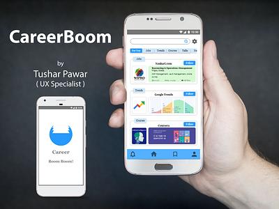 CareerBoom - UI/UX Design app uxr ux ui design uxresearch uxdesign illustration