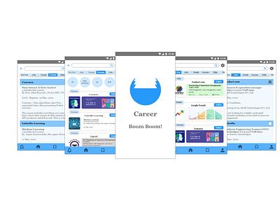 Career Boom ui app uxr design uxresearch uxdesign ux