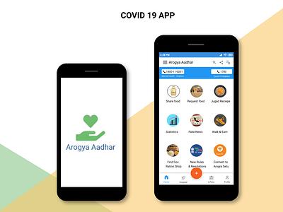 Covid 19 App app uxr ui ux uxdesign design uxresearch