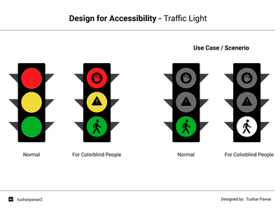 Design for Accessibility - Traffic Light ux design design for accessibility accessibility uxr ui ux uxresearch