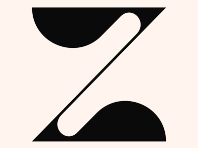 Z - 2 letter z pelican typographic typo logo letters lettermark typography type lettering letter