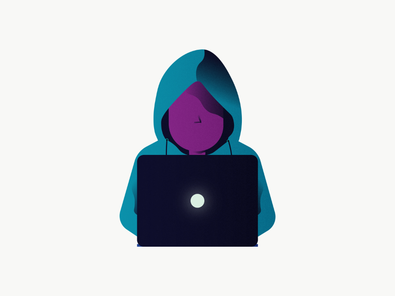 Are you even a hacker without a hoodie? hoodie laptop safe safety privacy illustration computer hacker hack