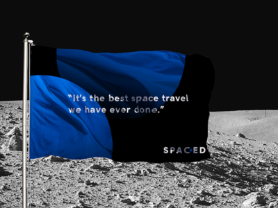 SPACED flag planet astronaut space challenge branding spaced spacedchallenge