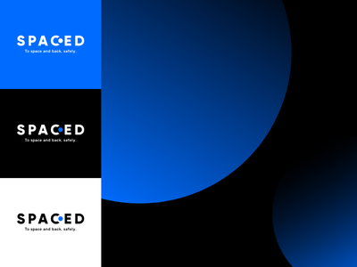 SPACED logo planet astronaut space challenge branding spaced spacedchallenge