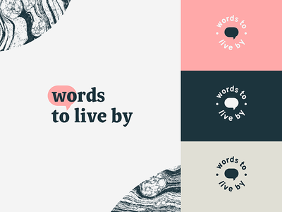Words to live by icon mark identity speech bubble bubble speech word logo words