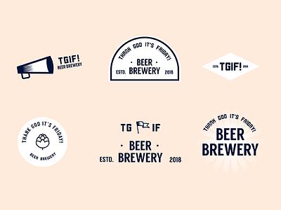 TGIF! flags hops thank god its friday tgif logo branding beer