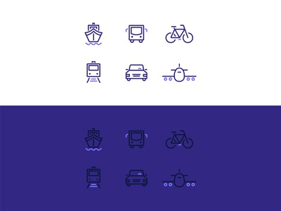 Traveling in style bycicle transportation icon bus planet train bike boat car vehicle transportation iconsets icons