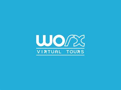 WORX Virtual Tours minimal app typography web logo and branding illustrator graphic design branding logos logodesign logodesigns logo