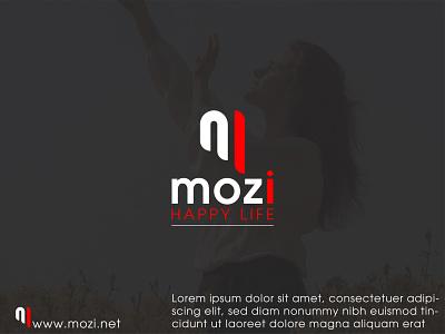 mozi logo logoconcept logos typography illustration design minimal logo and branding graphic design branding logodesign