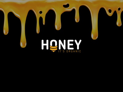 Honey Logo honeycomb logotype minimal typography illustration design logo and branding branding graphic design logos logo honeymoon honeylogo logohoney honeybee honey logodesign