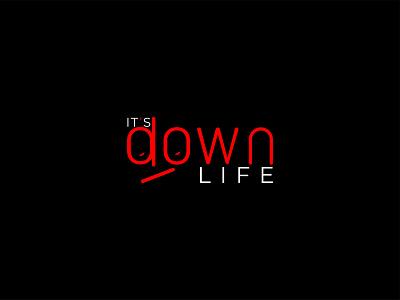 down life logo design illustration logo and branding life downdesign downlife down branding minimal graphic design logodesign