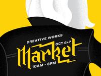 Creative Works Market Poster Illustration