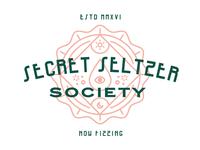 Secret Seltzer Society Bottle Cap Badge Lockup