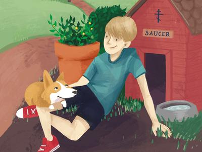Shepherding Sam Book Cover Illustration
