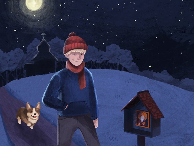 Clare freeman book and the barn cover illustration 2018 dribbble