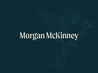 Morgan McKinney Logo consulting writer cocktail drawing stamp monogram sparrow logo bar spoon bartender identity branding design illustration