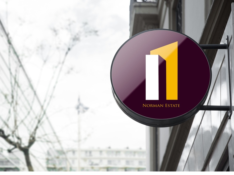 Norman Estate Signage Design! adobe icon logo photoshop illustration signage design designer design branding graphicdesign